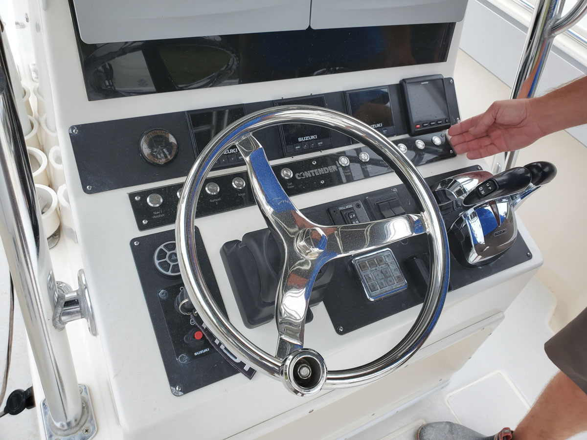 Custom Boat Dashboard
